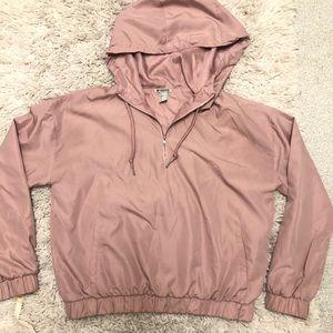 Forever21 pink wind breaker hoodie